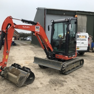 Kubota U27 Mini Excavator Hire Swindon