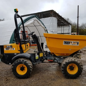 Side view of JCB 3T-1 Dumper Vehicle